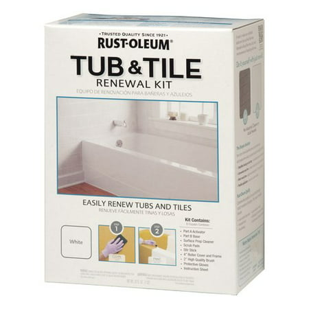 Rust oleum speclt qt kit 2pk tub tile renewal wm for Renew home designs reviews