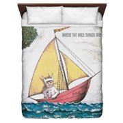 Where The Wild Things Are Max'S Boat Queen Duvet Cover White 88X88