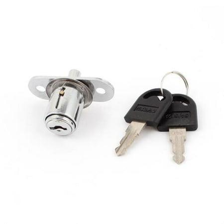 38mm High Cabinet Drawer Toolbox Cupboard Security Metal Cam Lock w 2 Keys