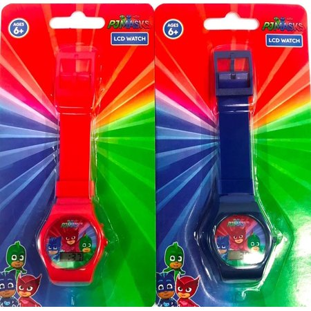 2PC Set: PJ MASKS LCD Digital Plastic Watch