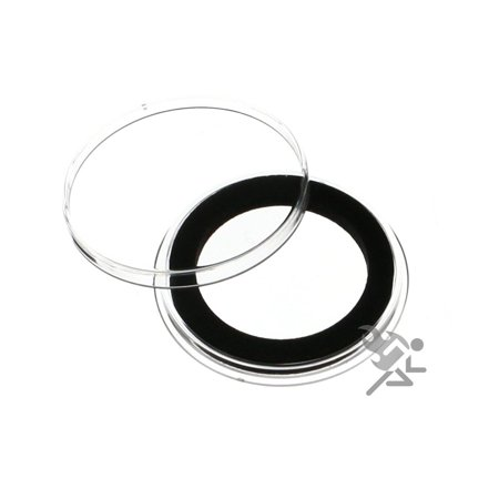 (3) Air-Tite 30mm Black Ring Coin Holder Capsules for US Franklin Kennedy Seated Barber Walking Liberty Half Dollars (Air Tight Coin Capsules)