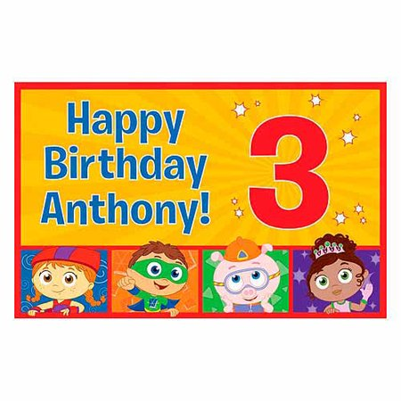 (Personalized Super Why! Happy Birthday Placemat)