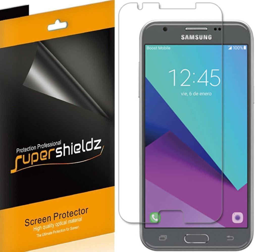 [6-Pack] Supershieldz Samsung Galaxy J3 Emerge Screen Protector, Anti-Bubble High Definition (HD) Clear Shield