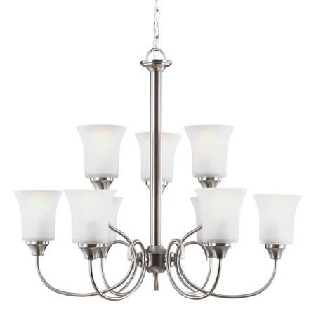 Sea Gull Lighting Holman 39810BLE 9-Light Chandelier
