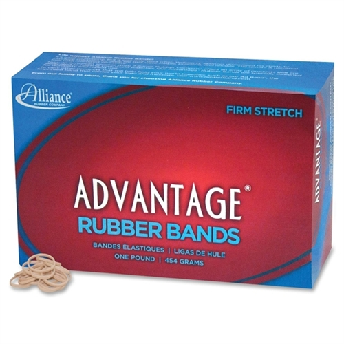 ALLIANCE RUBBER                                    Rubber Bands, Size 8, 1 lb., 7/8''x1/16'', Natural (Set of 2)