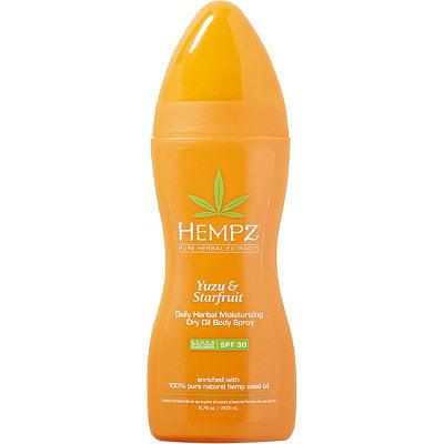 Hempz Yuzu & Starfruit Daily Herbal Moisturizing Dry Oil Body Spray SPF 30, 6.76