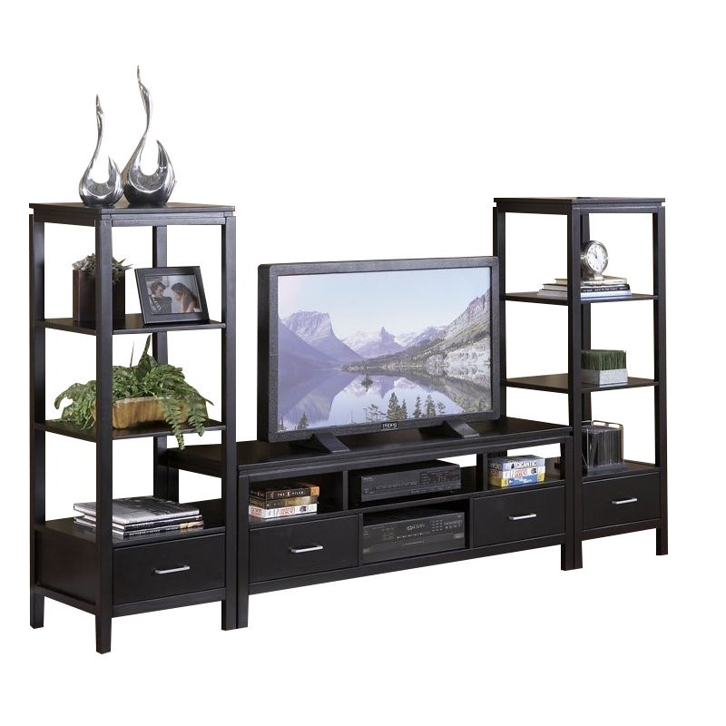 Linon Sutton Plasma Center TV Stand and Towers Set