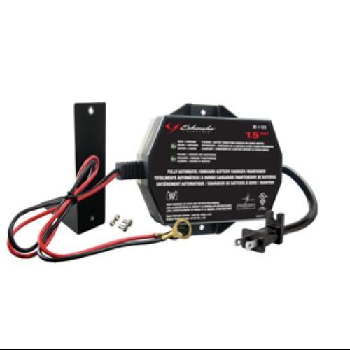 Schumacher 1.5a 12v Automatic Trickle Battery Charger/maintainer - 120 V Ac Input - 12 V Dc Output (se-1-12s)