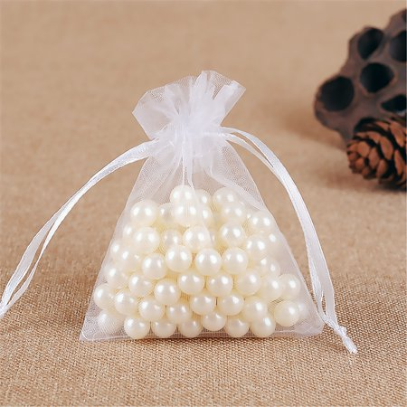 fashionhome 60pcs Mesh Design Candy Bag Drawstring Pouch Wedding Party Gift Bag Yarn Satin Organza Favour Pouch - image 3 of 8