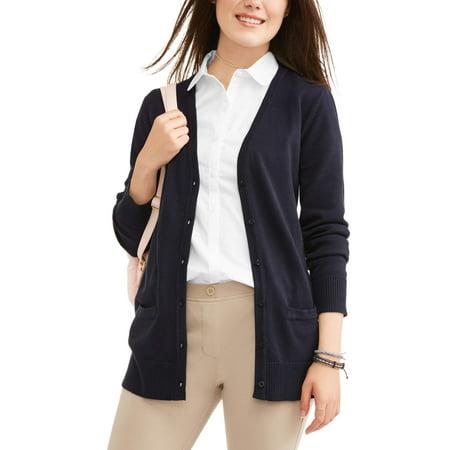 Juniors School Uniform Boyfriend Cardigan - Juniors Back To School Clothes