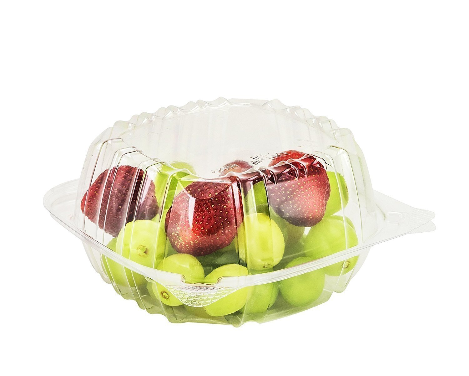 Sandwich Take Out To-Go 100 Pcs Hinged Plastic Container Cookies Cupcake