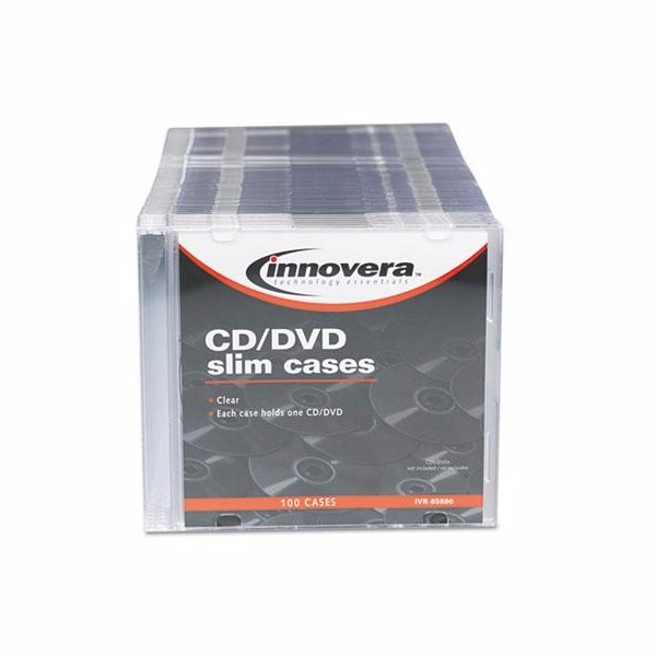 Innovera CD/DVD Polystyrene Slim Storage Case