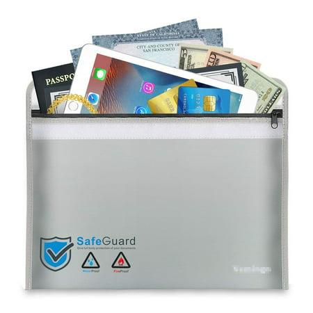 Fireproof Money Bag 15 8 X 11 1 Doent Fire Water Resistant Safe