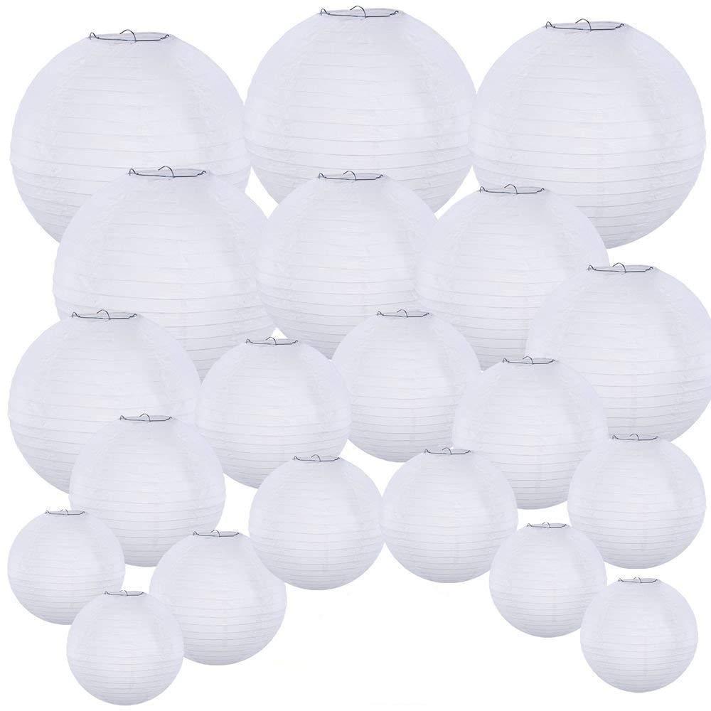 Black, 4//10CM Pack of 3 Round Paper Lanterns Lamp Wedding Birthday Party Decoration