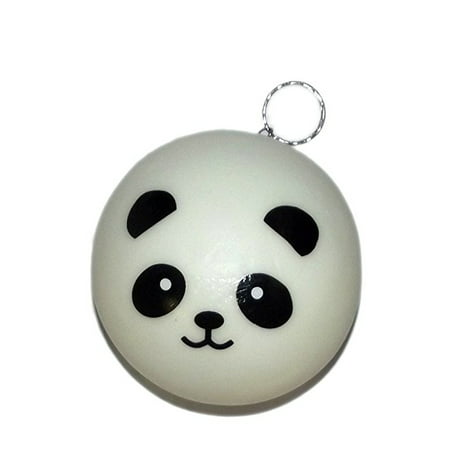Squishies Squishy Large Panda Face Keychain Assorted-(Choices may vary)](Panda Keychain)