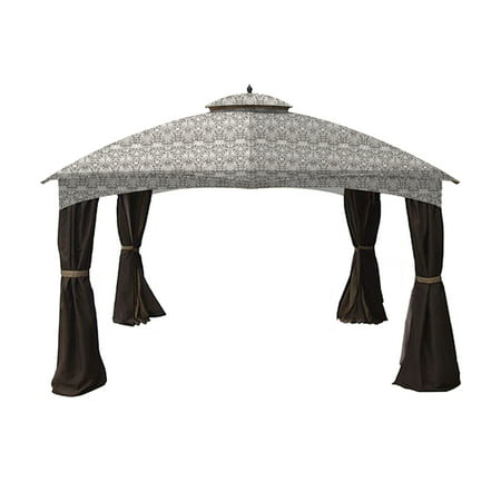 Garden Winds Replacement Canopy Top Cover for the Allen Roth 10x12 Gazebo -Standard 350 - Damask Beige ()