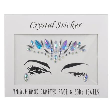 Lux Accessories Faux Rhinestone Festival Carnival Body Face Eye Sticker Jewels](Festival Accessories)