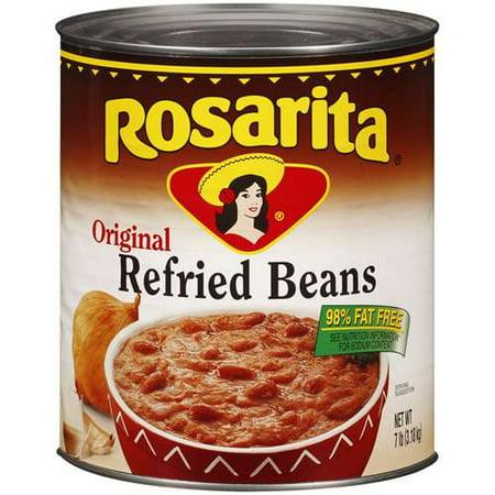 Taco Bell Refried Beans - (6 Pack) Rosarita: Original Refried Beans, 7 lb