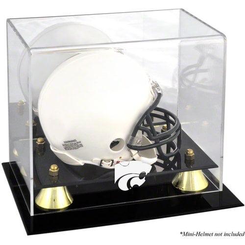 NCAA - Kansas State Wildcats Golden Classic Logo Mini Helmet Display Case