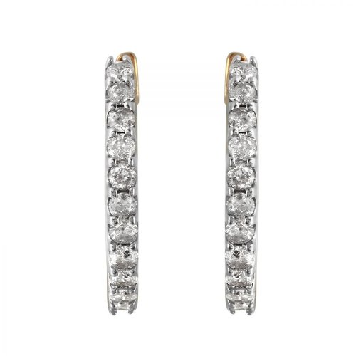 Fashion Strada Ladies 1 Carat Diamond 10k Yellow Gold Earrings