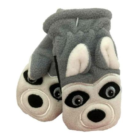 Dot Mitten (CP Infant Boys Gray Microfleece Husky Dog)