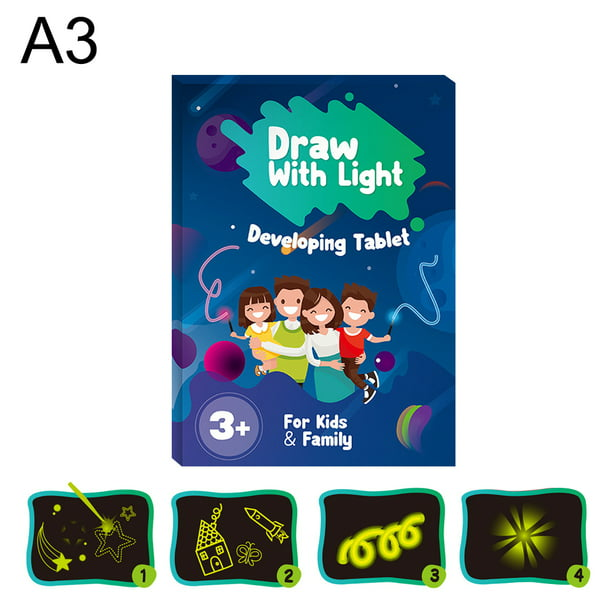 Magic Drawing Board With Light Draw Sketch Create Doodle Art Fun Developing Toy Kids Gift With Drawing Pen Walmart Com Walmart Com