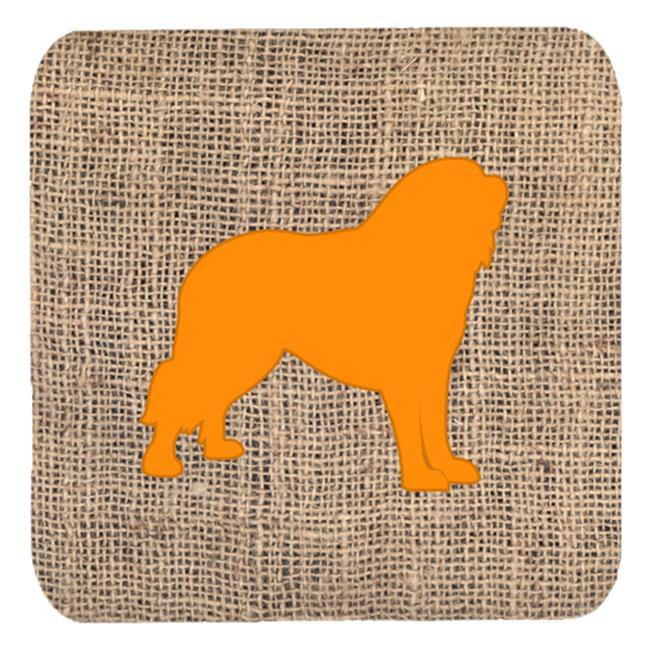 Tibetial Mastiff Burlap And Orange Foam Coasters - Set 4, 3.5 x 3.5 In. - image 1 of 1