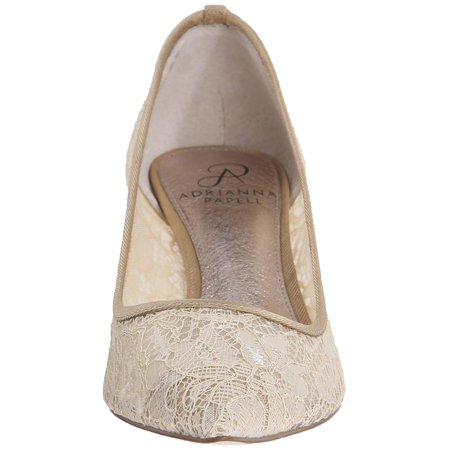 07b4496e216e Adrianna Papell Womens Lois Lace Pointed Toe Classic Pumps - image 1 of 2  ...