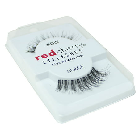 Red Cherry 100% Human Hair False Eye Lashes Fake Eye Lashes #DW Demi (Best Red Cherry Lashes For Almond Eyes)
