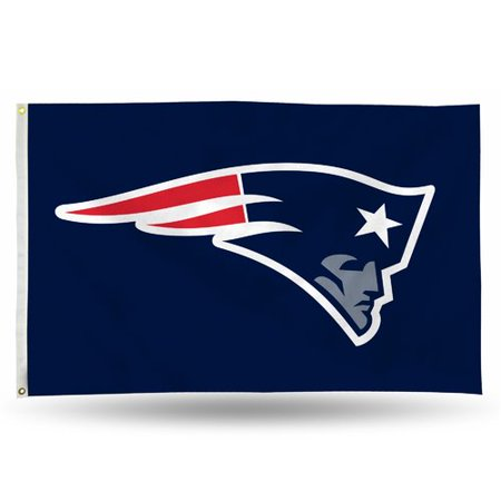 Rico Industries NFL 3' x 5' Banner Flag, New England Patriots - Patriots Flag