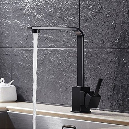 Homili Modern Black Kitchen Sink Faucet & Swivel Spout Single Level ...