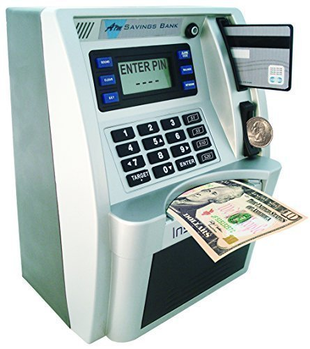 Children S Mini Atm Machine Safe Deposit Box Savings Bank Automatic U Coin Counter With Bill Slot Goal Tracker Calculator