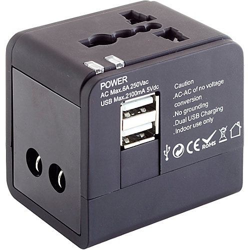 High Road Smooth Trip Dual USB International Adapter Cube