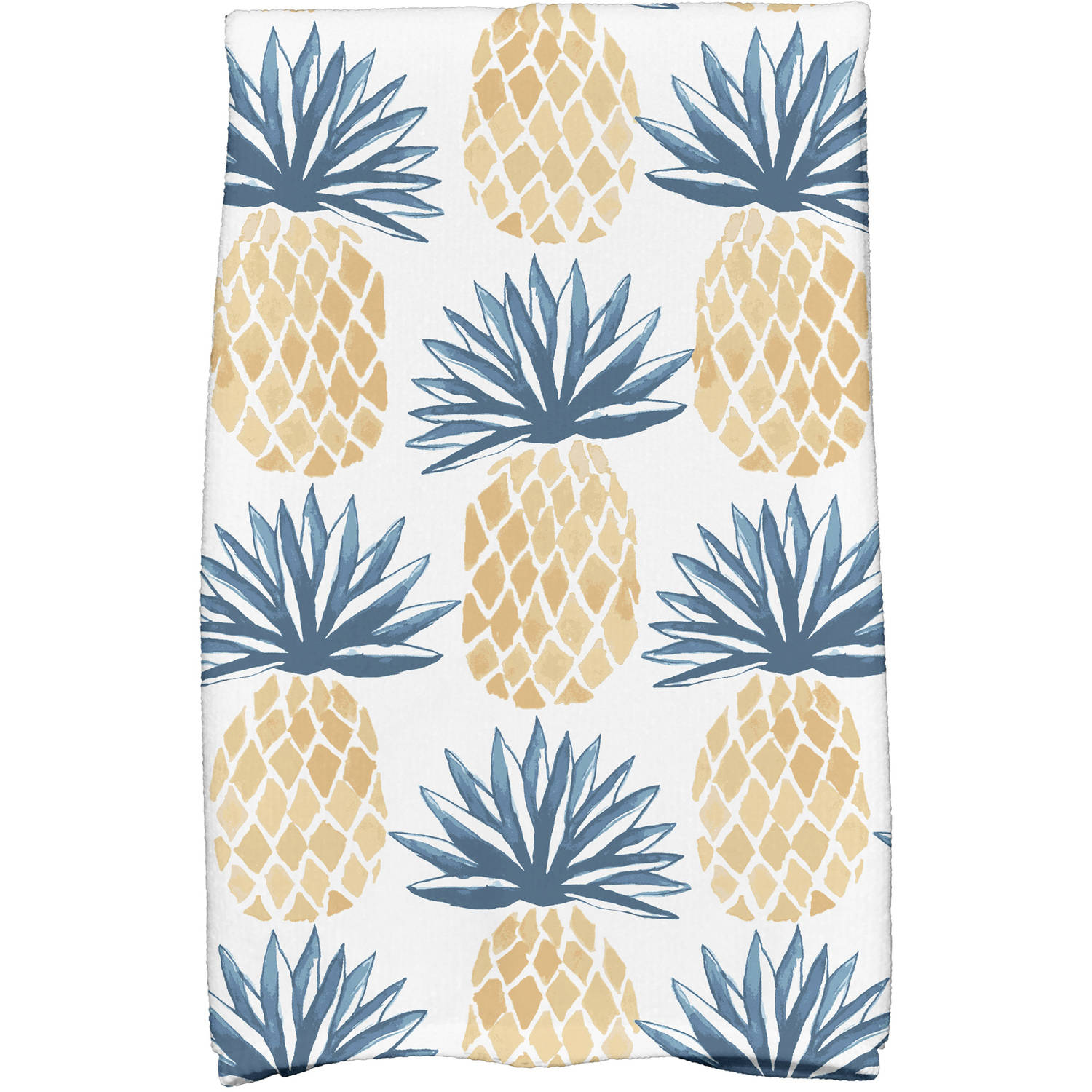 "Simply Daisy 16"" x 25"" Pineapple Stripes Geometric Print Kitchen Towels by E By Design"