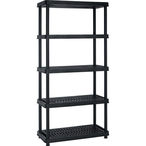 "Enviro Elements 5-Tier Shelf Unit, 18""x36"", Black"