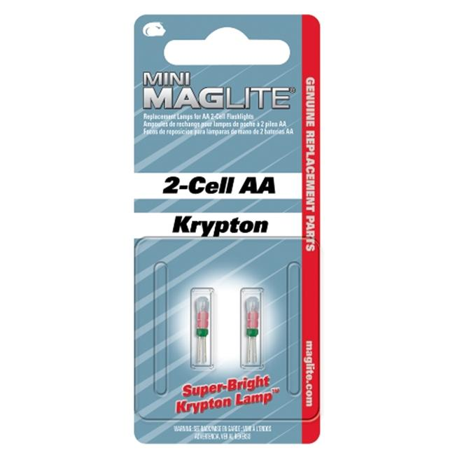Mag Maglite Aa & Aaa Replacement Lamps 2 Pe