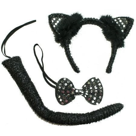 Halloween Costume Accessory 3 Piece Black Cat Kit](Three Black Cats Halloween Song)