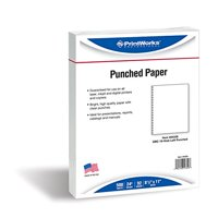 PrintWorks Professional Prepunched Paper, 8.5 x 11, 24 lb, GBC CombBind 19-Hole Punched Report & Presentation Paper, 500 Sheets, White (04329)