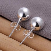 Rubique 18K Sterling Silver Pearled 925 Earring