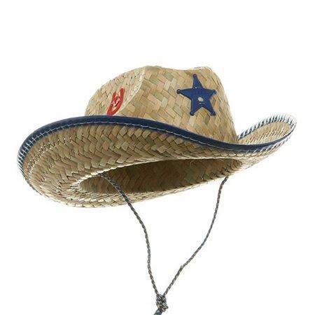 5756c00bdf6 Jacobson Hat Company - Child Kids Cowboy Straw Sheriff Hat Western Costume  Accessory - Walmart.com