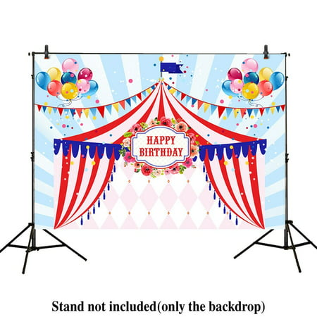GreenDecor Polyster 7x5ft photography backdrop background balloon Circus Tents stratus Playground carnival Carousel kids birthday party banner photo studio booth photocall