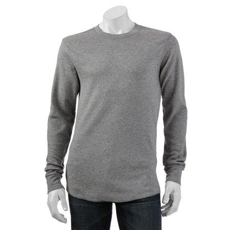 b8d13051612 Croft   Barrow - Croft   Barrow Long Sleeve Thermal Crew Shirt for Men Gray  Medium - Walmart.com