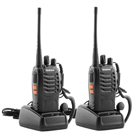 Bingkers Long Range Walkie Talkie Rechargable Handheld Two Way Radio with Earpiece (2