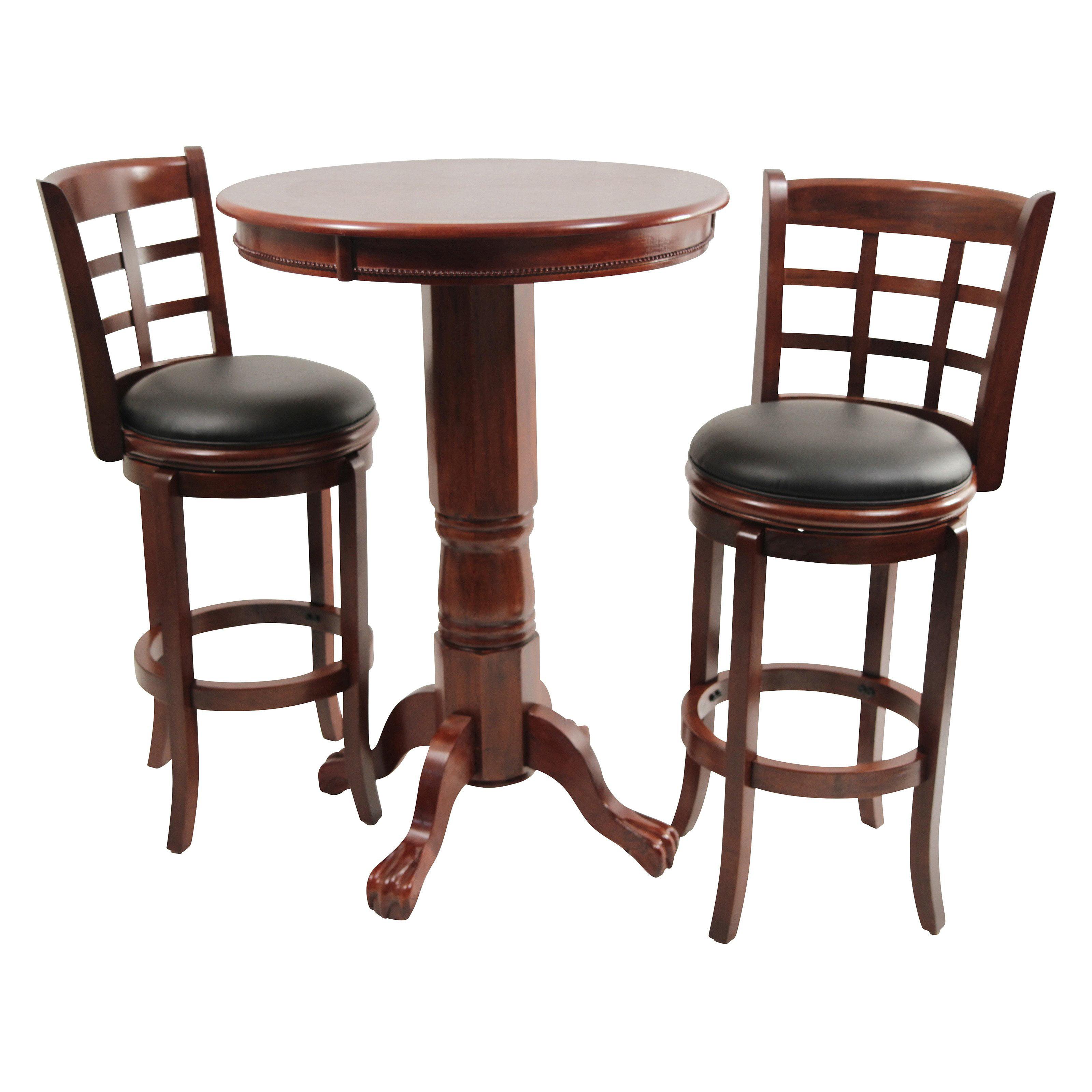 Boraam Kyoto 3 Piece Pub Table Set Dark Cherry by Boraam Industries LLC