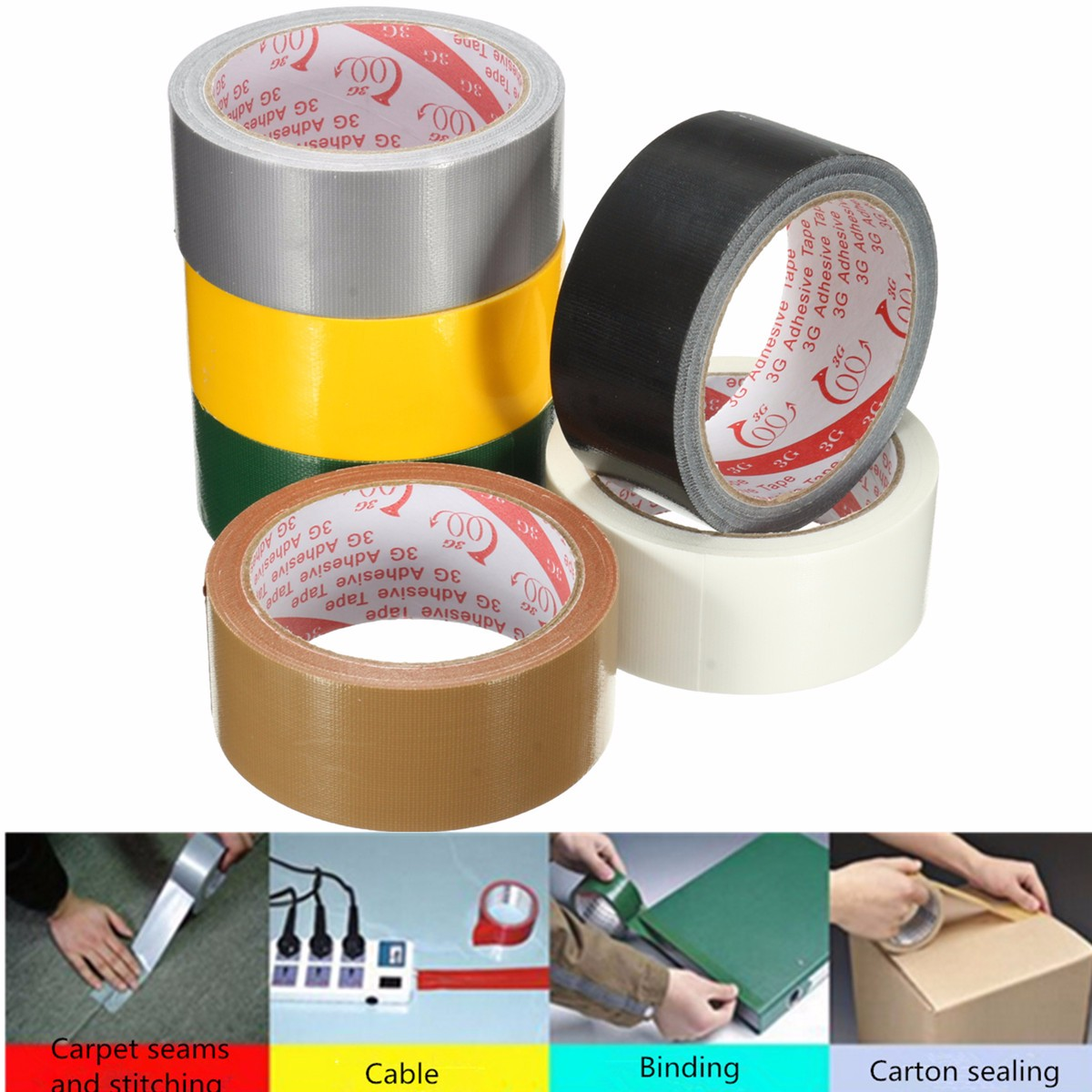 Waterproof Adhesive Cloth Performance Repair Tape Self Adhesive Tape Packaging Tape Duct Pipe Wrap Carpet Fixing Insulating