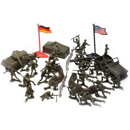 - WWII Army Men, Toy Soldier Play Set with Vehicles