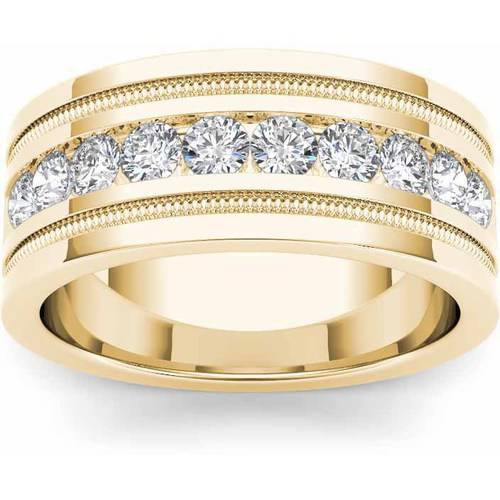 Imperial 1-1/10 Carat T.W. Diamond Men's 14kt Yellow Gold Wedding Band