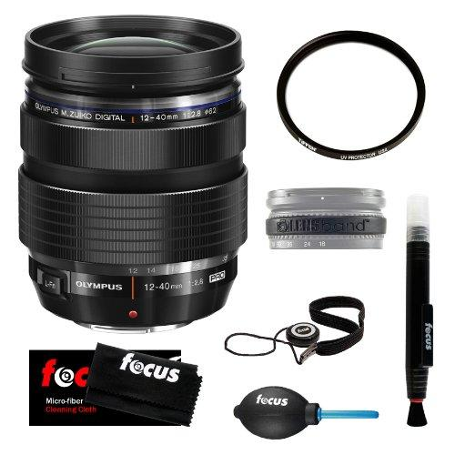 Olympus M.Zuiko Digital ED 12-40mm f/2.8 Pro Wide Angle Zoom Lens plus Tiffen 62 UV Protector Filter Accessory Kit