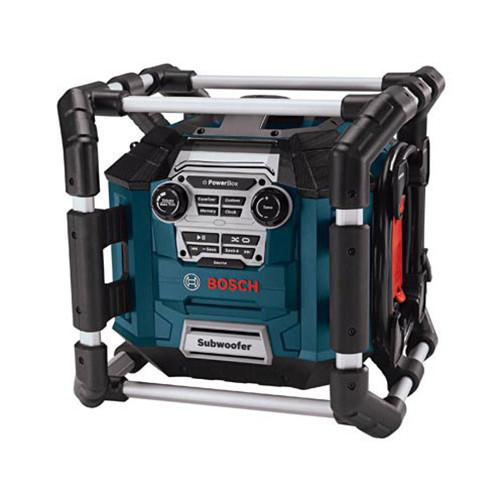 Factory-Reconditioned Bosch PB360S-RT Power Box Jobsite AM/FM Stereo & Charger w/ MP3 Compatibility
