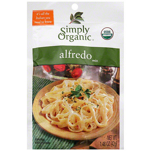 Simply Organic Alfredo Mix, 1.48 oz (Pack of 12)